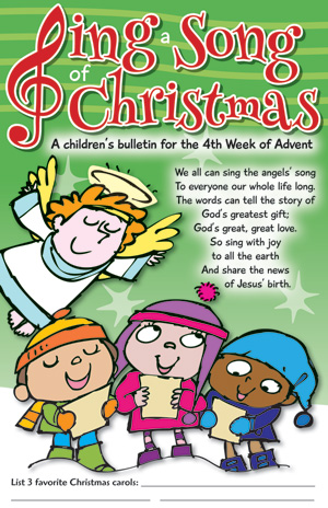 Sing A Song Of Christmas Children's Bulletins Product/Goods ...