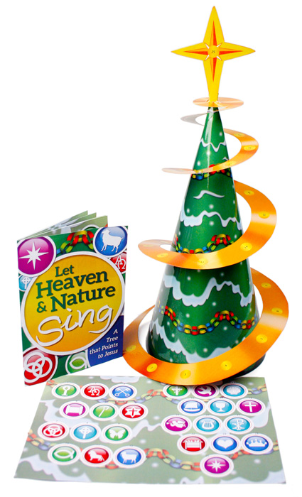 Booklet & Let Heaven And Nature Sing- Christmas Tree Sticker Book And Poster - Jpg file