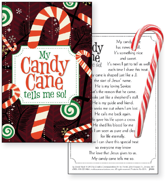 My Candy Cane Tells Me So Candy Cane Card With Cane Product/Goods ...