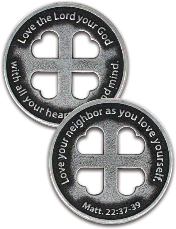 Greatest Commandment Lenten Coin - Jpg file