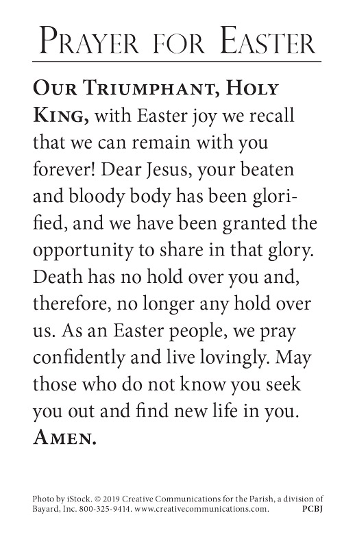 Easter Prayer Card - Jpg file