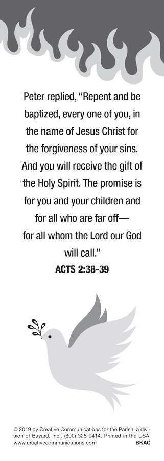 Pentecost Bookmark - Jpg file