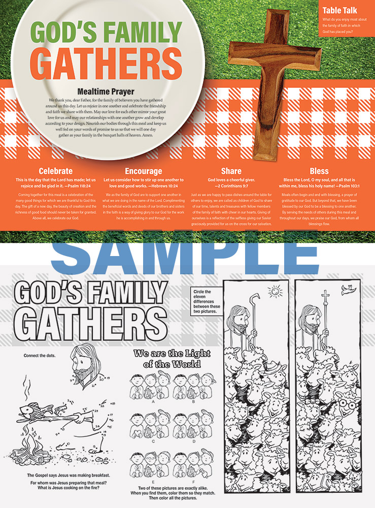 PARISH FAMILY DAY PLACEMAT - Jpg file