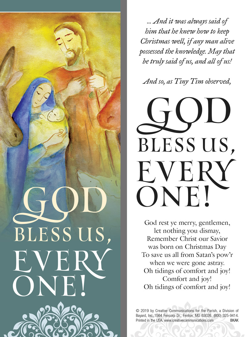 GOD BLESS US EVERYONE BOOKMARK - Jpg file