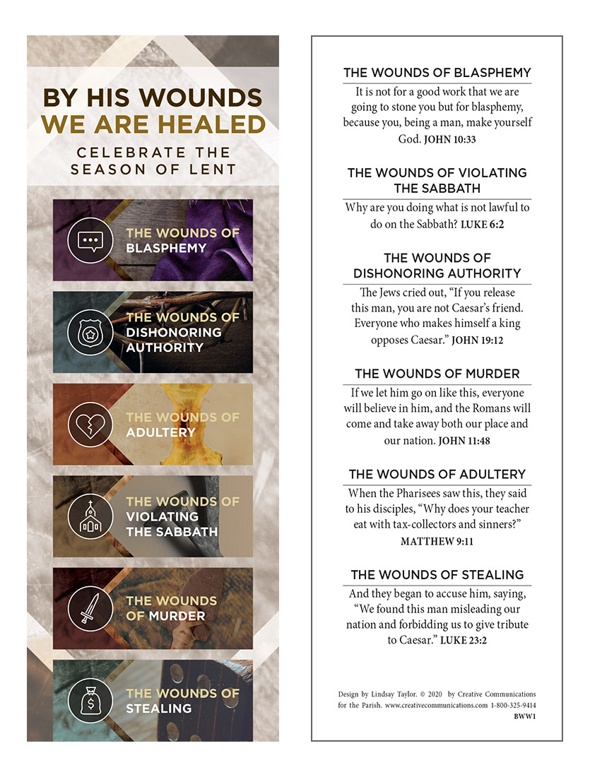 By His Wounds We Are Healed - Bookmark - Jpg file