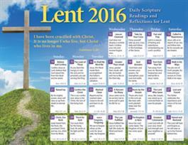 Lent 2016 Calendar