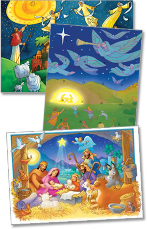 50 Advent Calendar Cards