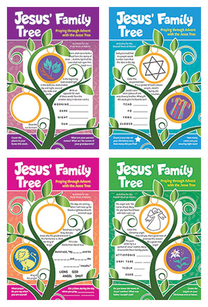 Jesus' Family Tree Set Of Children's Bulletins