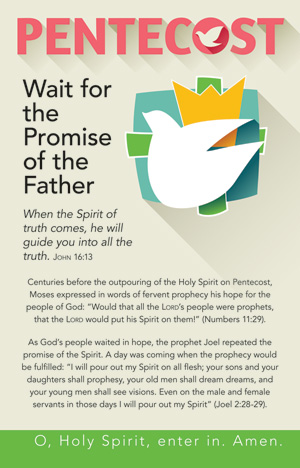 Wait For The Promise Of The Father Pentecost Bulletin Insert