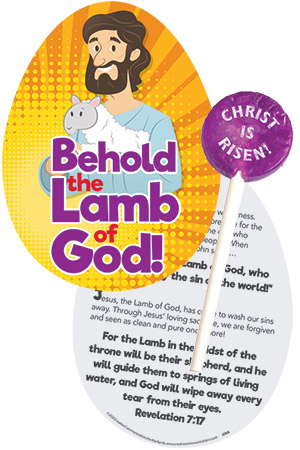 Behold the Lamb of God! Easter Lollypop and Card