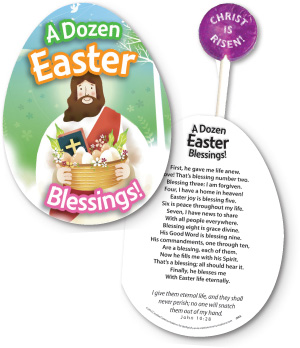 A Dozen Easter Blessings Lollypop And Card