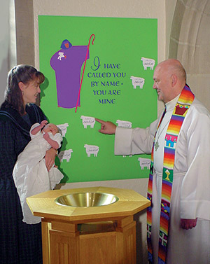 Parish Baptism Banner