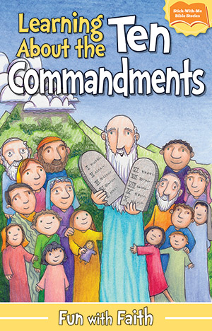LEARNING THE 10 COMMANDMENTS STICKER BOOKLET-PROT