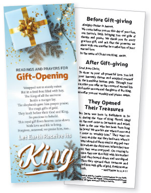 Gift Opening Litany