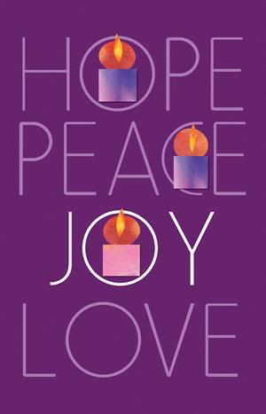 Advent 2 peace hope peace joy love advent week