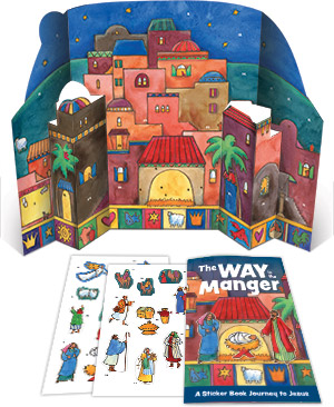 The Way In The Manger - Sticker Book And Poster Combo