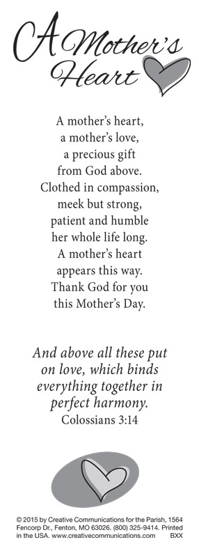 MOTHER'S DAY BOOKMARK - Jpg file