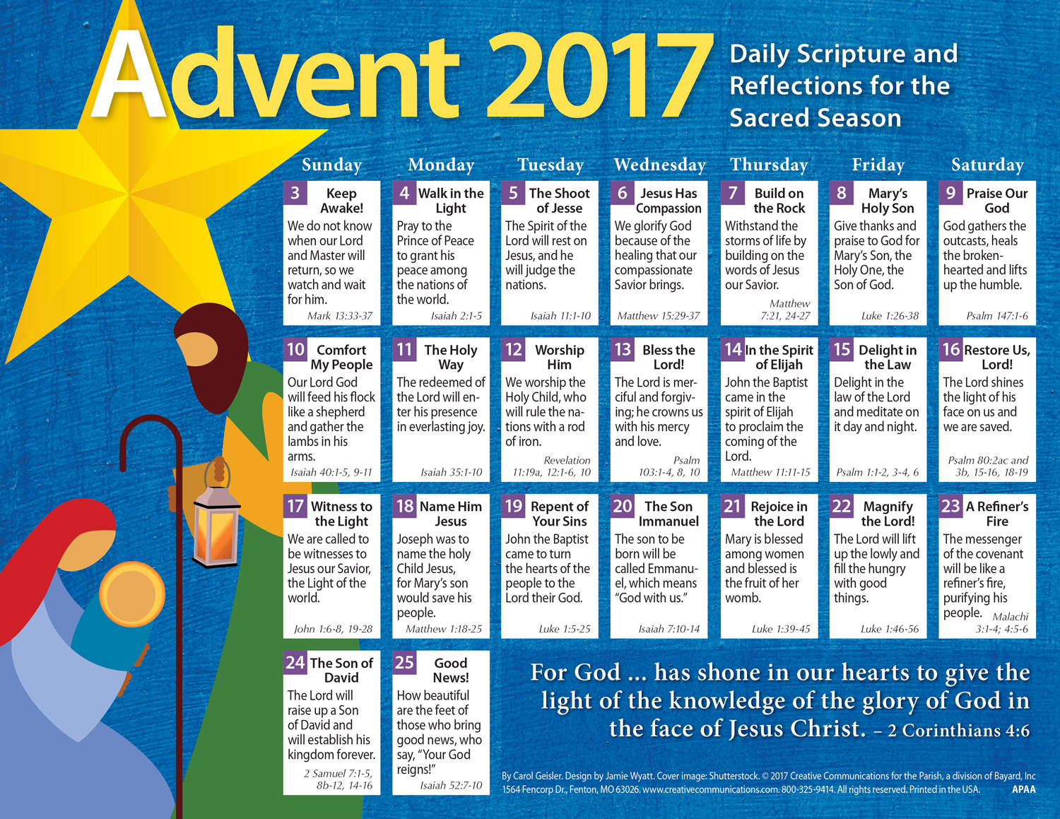 2017 Adult Advent Calendar Protestant - Jpg file
