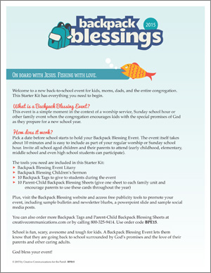 Backpack Blessings Kit