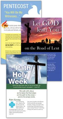 Lent, Holy Week And Pentecost Bulletin Insert - Combo