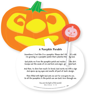 The Pumpkin Parable Halloween Card And Sucker