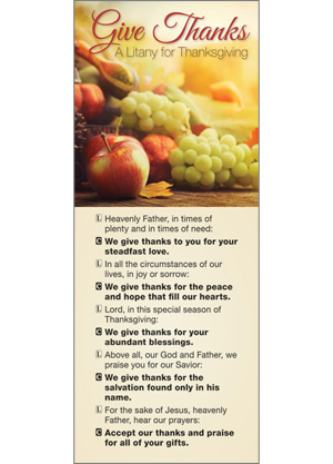 Give Thanks Thanksgiving Litany