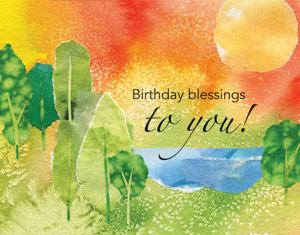 Birthday Wishes to You Parish Occasion Card - Imprinted